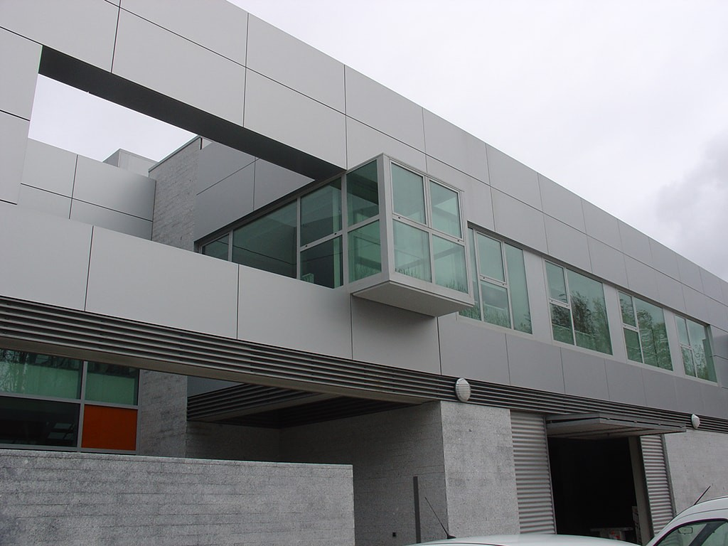 Vista externa de las oficinas