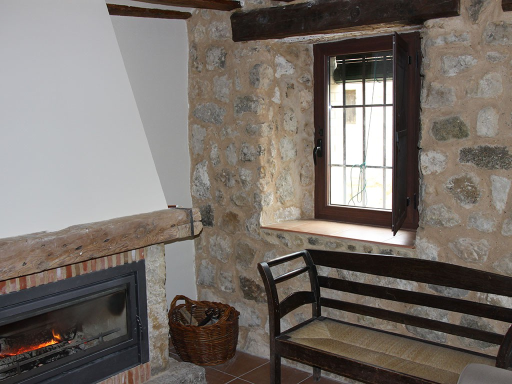 Interior de vivienda rural