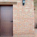 Puerta rústica metálica